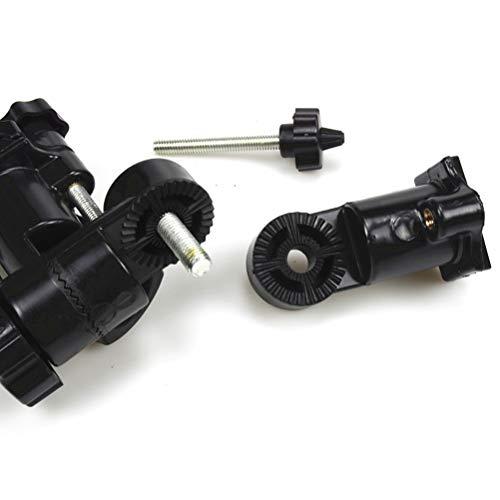 LIOOBO Universal Schirmständer Fixed Frame Schirmhalter Flash Bracket Adapter (Schwarz) - 4