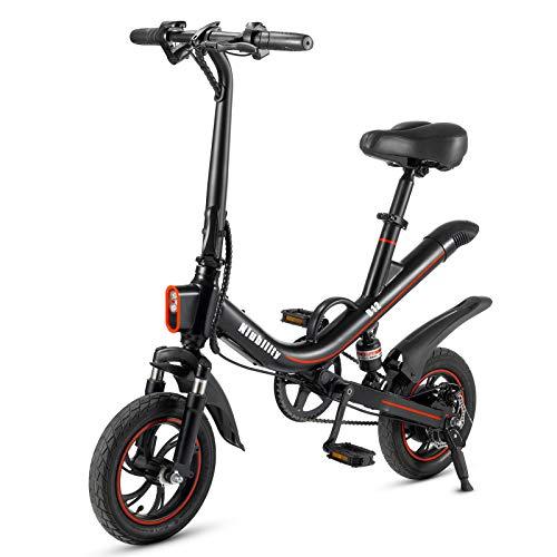NIUBILITY Bicicletta elettrica pieghevole da 12 pollici Power Assist E Bike con motore da 350W,La batteria al litio da 36V 7.8AhGamma 25-30 km con ammortizzatore per il pendolarismo