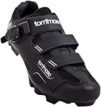 Tommaso Montagna 200 Men's Mountain Bike MTB Spin Cycling Shoe with Buckle Compatible with SPD Cleats Black - 43