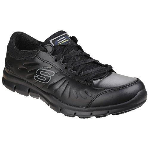 Skechers Occupational Womens/Ladies Eldred Slip Resistant Lace Up Work Shoes (10 US) (Black)