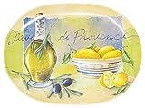 Lashuma Bandeja ovalada de melamina de 30 x 21 cm, diseño de Provence