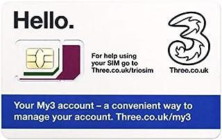 【ヨーロッパ】Threeデータ通話、プリペイドSIMカードプリペイドSIM【イギリス含む42ヶ国対応】 (10GB 300分現地通話 30日間)