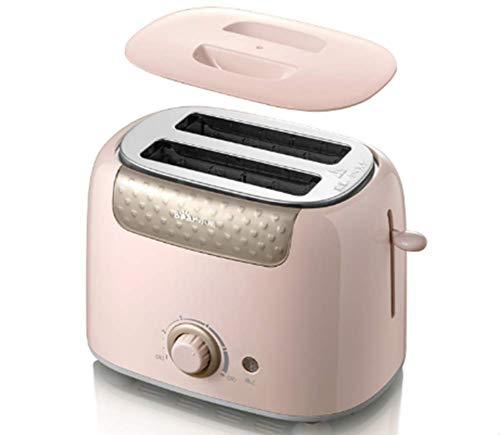 Tostadora de 2 Ranuras,Tostador para dos rebanadas con 6 niveles de tostado, 680 W de potencia,Rejilla calientabollos integrada. Libre de BPA. Diseño exclusivo,B