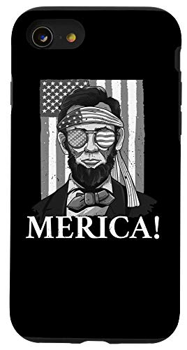 iPhone SE (2020) / 7 / 8 Merica | Abe Lincoln 4th of July Men Boys Gift Tee Case