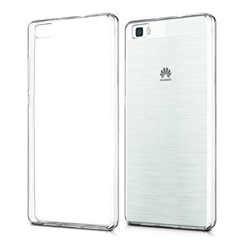 kwmobile Hülle kompatibel mit Huawei P8 Lite (2015) - Silikon Handyhülle transparent - Handy Hülle in Transparent