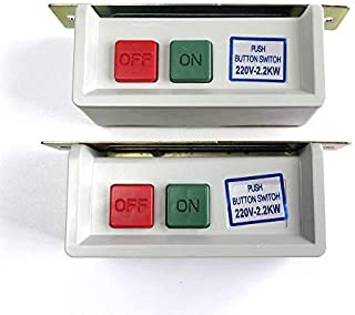 evernice 2 Push Button On & Off Switch for Industrial Sewing Machine Motor 220 Volt 110V