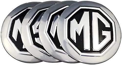 Cubierta de la rueda del logotipo del coche Calcomanías del logotipo de MG MG TF ZR ZS ES HS EZS Morris 3 GS 4PCS 56mm Cubiertas pegatinas