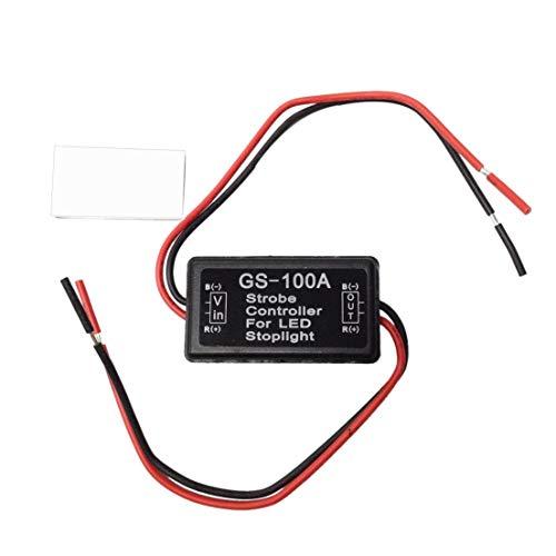 BiaBai Controlador estroboscópico para luz de freno LED, luz trasera, freno trasero, módulo de flash estroboscópico, controlador de señal, controlador de lámpara trasera