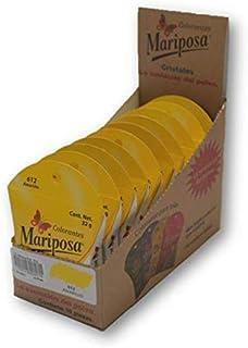 Mariposa Cristales Amarillo 612 Colectiva con 10 piezas