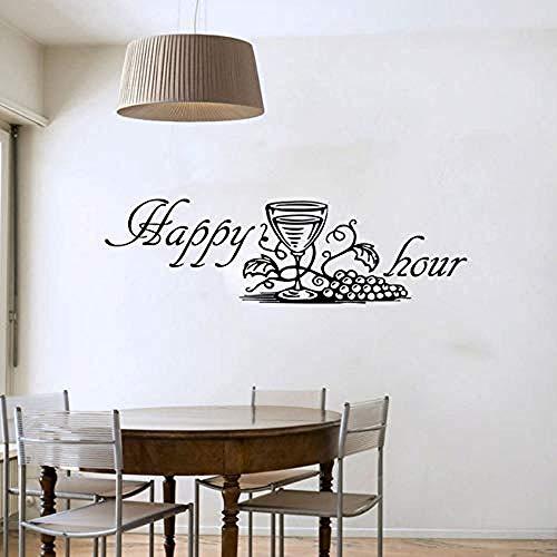 Wandsticker Jhping Happy Hour Weinglas Wandtattoo Moderne Mode Dekoration Diy Entfernbare...