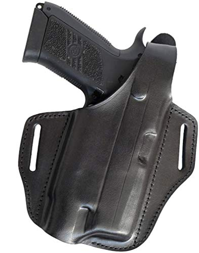 """Craft Holsters Rock Island TAC Series 4.25"""" (Full Rail) Compatible Holster - Crimson Trace CMR 206 Leather Belt Holster (34L/CT CMR 206-BLK)"""