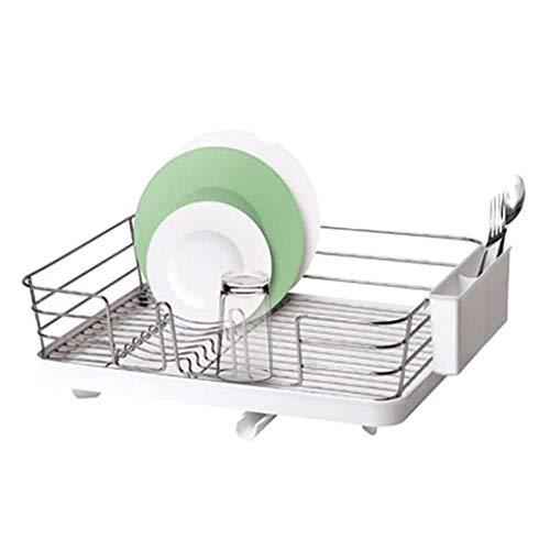 LLRYN Scolate Rack - Stoviglie Stendino Cucina Posate Scarico Rack Rimovibile Compact Utensili Holder Usato for la Cucina lavastoviglie, Bagno di stoccaggio
