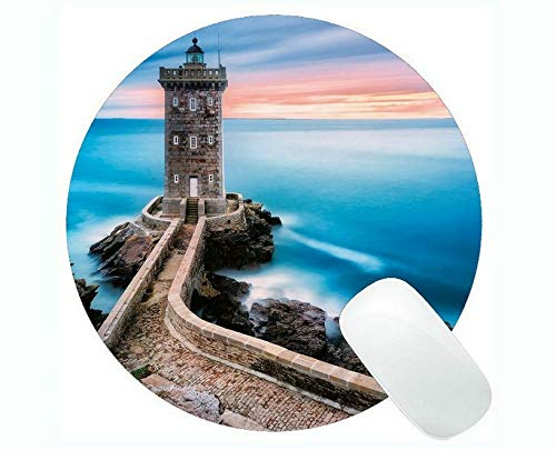 Yanteng Tappetini per Mouse da Gioco, Tappetino per Mouse Lighthouse at Night