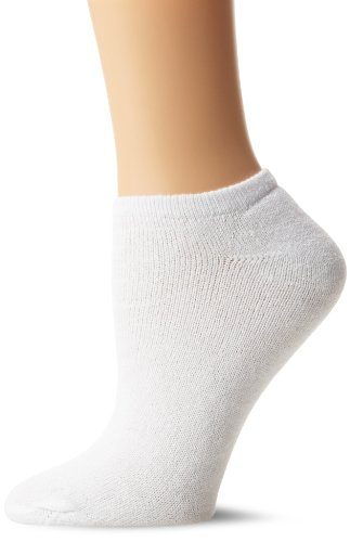 Fruit of the Loom Women's 10 Pack Cushioned Ankle Crew Socks, White, Shoe Size: 4-10