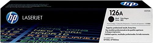 HP 126A CE310A Cartuccia Toner Originale, Compatibile con Stampanti LaserJet Pro CP1025, Pro CP1025nw, Pro 100 color MFP M175a, Pro 100 Color MFP M175nw, Pro TopShot M275, Pro CP1020, Nero