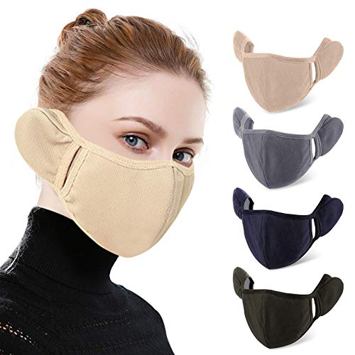 4 Pcs Women Winter Ear Muffs Reusable Windproof AntiDust Warm Earmuffs Unisex Skiing Riding Outdoor Sport Accessories