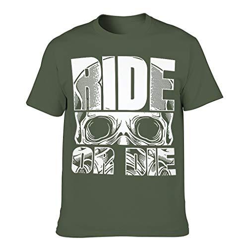 Relaxident Camiseta de algodón de los hombres colorido transpirable - Tema Tops