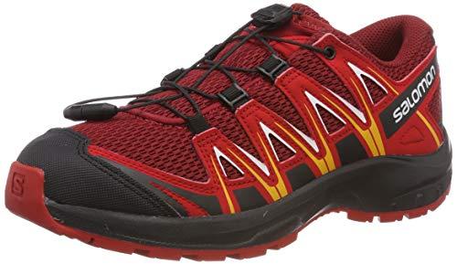 Salomon XA Pro 3D J, Zapatillas de Trail Running para Niños, Rojo (Red Dahlia/Barbados Cherry/Spectra), 32 EU