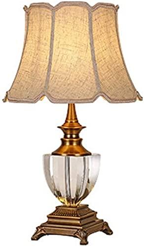 nakw88 Lámpara Escritorio Lámpara de Mesa de aleación de Zinc clásica y Elegante lámpara de mesita de Noche Moderna y Minimalista para Sala de Estar Dormitorio 40 * 60 cm