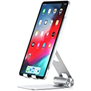 Satechi R1 Aluminum Multi-Angle Foldable Tablet Stand - Compatible with 2018 iPad Pro, 2018 MacBook Air, iPhone XS Max/XS/XR, 8 Plus/8, Samsung S9 Plus/S9, Microsoft Surface Go