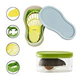 Avocado Slicer, Avocado Saver 5-in-1 Multi-Functional Avocado Tool Set | Avocado Keeper, Cutter, Slicer, Masher, Pitter, Peeler