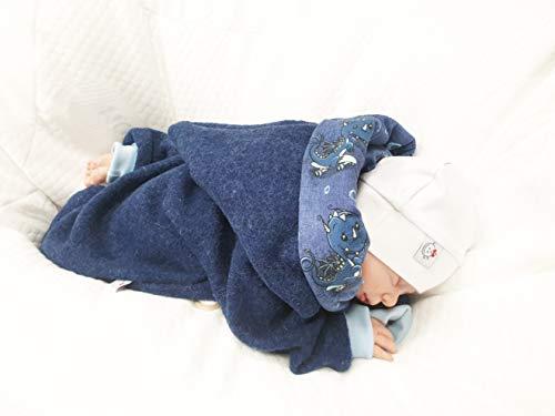 Atelier MiaMia - Walkoverall Baby Kind von 50-104 Designer Baby Overall Limitiert !! Blau (98) - 3