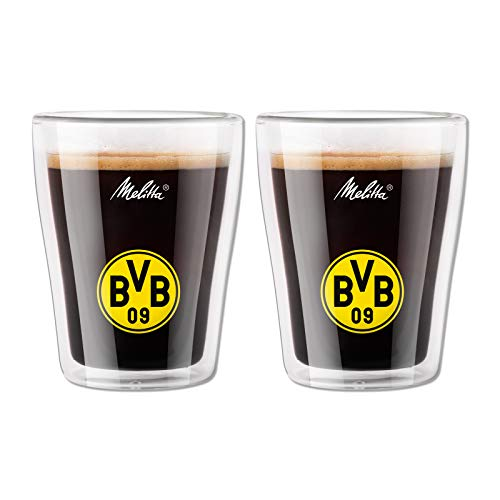 BVB-Kaffee-Gläser doppelwandig (2er-Set) (Melitta) one size