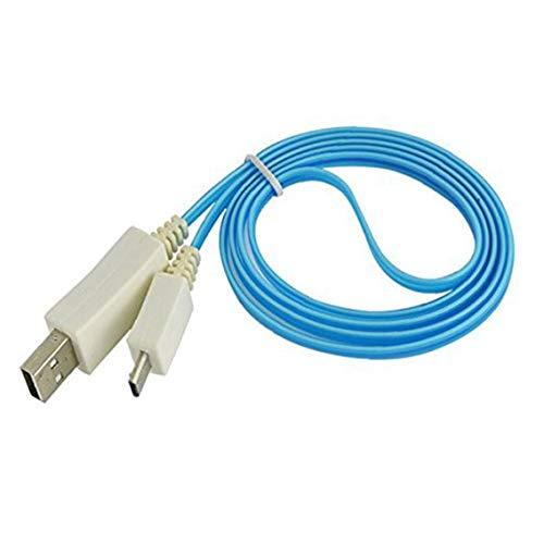 IUwnHceE Azul USB Ligero Visible del Led Micro Cargador De Datos Cable De Sincronización para HTC Samsung S3 S4 Duradero Accesorios De Ordenador