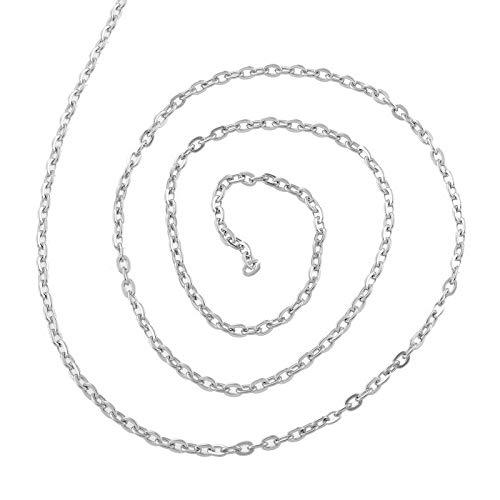 YF 5M zilver Tone roestvrij staal platte stoeprand Link kruis ketting sieraden maken bevindingen 4.3x3mm