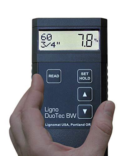 Lignomat BW Dual-depth Pinless Moisture Meter with RH...