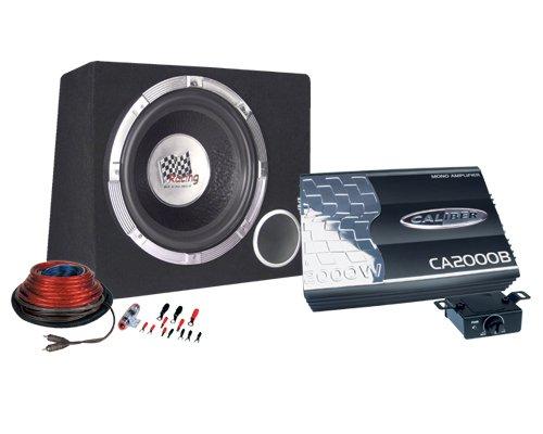Caliber PACK12D Subwoofer/subwoofer 375 W zwart - subwoofer/subwoofer (375 W, 50-250 Hz, 2000 W, 30,5 cm (12 inch), zwart)