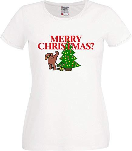 Grumpy sarkastisch Ironisch Merry Christmas T-shirt alternatief Kerstmis onconventioneel Kerstmis T-shirt FOTL dames gesneden T-shirt kleuren zwart/wit