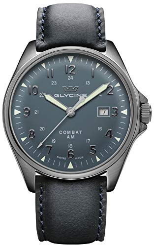 Combat 6 vintage orologio Uomo Analogico Automatico con cinturino in Pelle di vitello GL0299