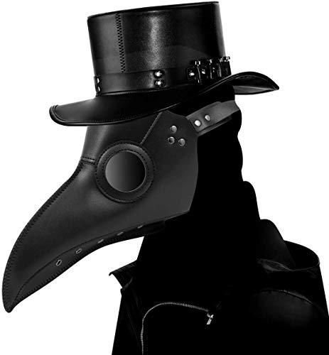 CompraFun Schnabelmaske, Vogelmasken Plague Doctor Masken, Steampunk Pest mask Kostüm Zubehör für Erwachsene Halloween Party Fasching Karneval