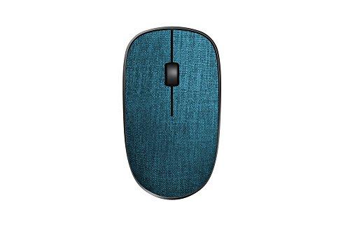 Rapoo 3510 Plus kabellose Maus mit Stoffoberfläche, 2,4 GHz Wireless Verbindung, hochauflösender 1000 DPI Sensor, blau