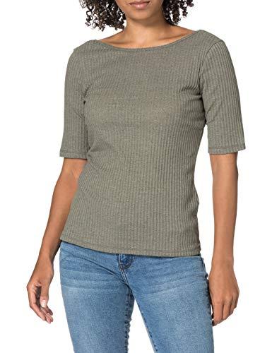 edc by Esprit 041CC1K317 Camiseta, 348/Light Khaki 4, M para Mujer