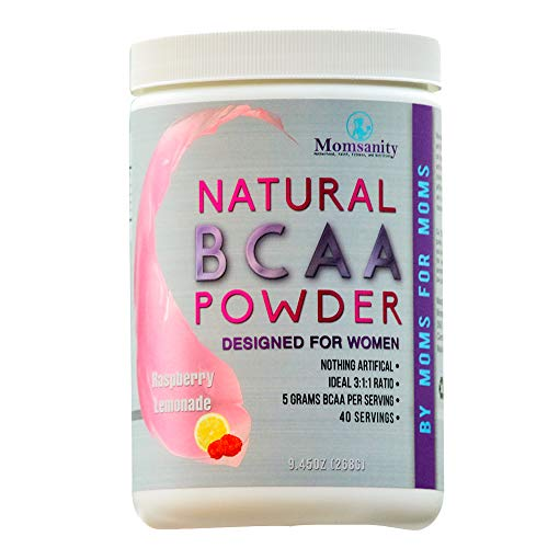 BCAA Powder Preworkout for Women - BCAA Amino Sweetened Naturally with Stevia, Erythritol, & Monk Fruit - 40 Servings + Free Delicious Recipe Guide PDF (Raspberry Lemonade)