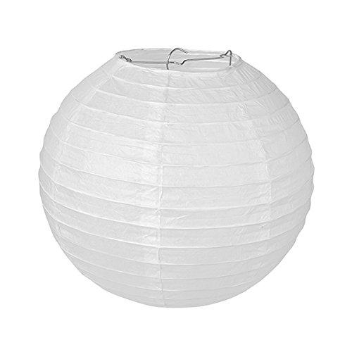 Pajoma Lot de 10 lanternes en papier pour la décoration de mariage, de fête - 35 x 35 cm - Blanc