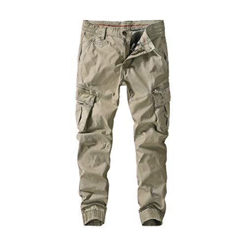 Monos de otoño para Hombre Pantalones Casuales Pernera Recta Exterior Multibolsillos Cómodo Pantalones Cargo Resistentes al Desgaste Acampar al Aire Libre Senderismo Ajuste Holgado 36