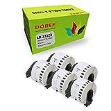 DOREE Rollos de etiquetas de dirección compatibles Brother DK-22223, color blanco, 50 x 30,48 mm, para Brother P-Touch QL-500 QL-550 QL-570 QL-700 QL-800