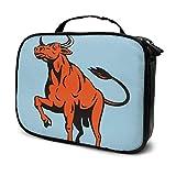 Taurus Cosmetic Bag Holder Portable Makeup Bag, New York City Travel Zipper Train Case Organizer Artist Storage Bag For Toiletry Jewelry