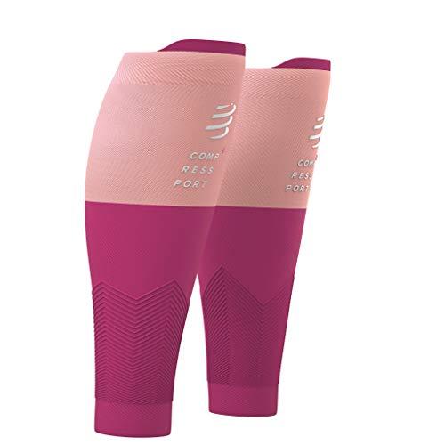 Compressport - R2V2 - Gambaletti di Compressione per Polpacci - Protezione Muscolare, Prestazioni e Recupero - Ultraleggero e Anti-fatica - Corsa, Ciclismo, Trail e Triathlon, rosa