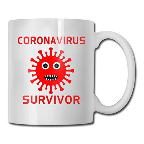 N\A CORONAVIRUS Survivor 2020 Tazza Regalo Divertente Tazza in Ceramica Bianca
