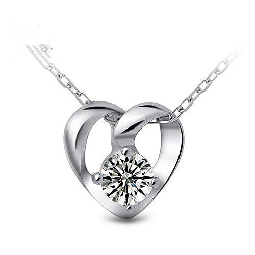 Axiba S925 Sterling Silber und Diamant Anhänger weibliche Geld Herbstmode Europa und die Vereinigten Staaten hundert Schlüsselbein Kette Elry Das schönste Geschenk