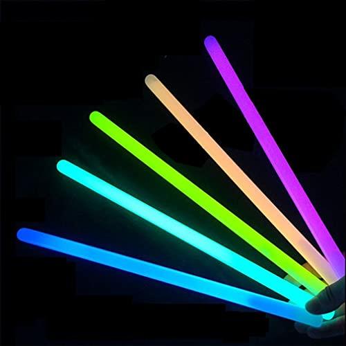 RHNE 5 Colores, 100 Uds, Suministros para Fiestas, Palos Luminosos, Palos de Flash, Pulsera Fluorescente superbrillante, decoración de conciertos, 5 Colores
