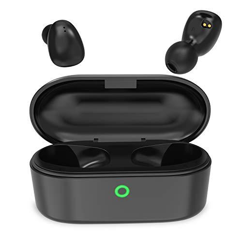 NYZ Kabellose Bluetooth-Kopfhörer mit Bluetooth 5.0, 3D-Stereo-Sound mit Mikrofon (Space 2, schwarz)