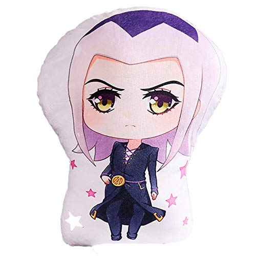 Elibeauty JoJo's Bizarre Adventure Plush Throw Pillow, Animation Around Cartoon Plush Doll Soft Stuffed Plush Pillow Cushion Home Office Sofa Decoration Best Gift for Anime Fans( Small Style 06)