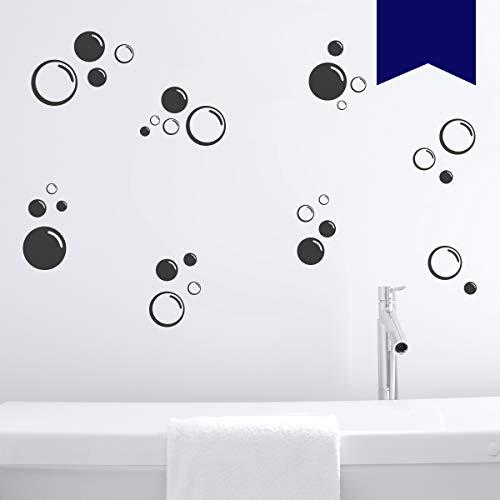 Wandkings Wandtattoo Seifenblasen im Set, 30 Stück Größe SMALL in dunkelblau - erhältlich in 33 Farben