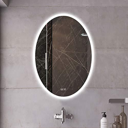 WLHER Badspiegel 60X80cm Mit LED Beleuchtung, Touch-Schalter, Beleuchtet Wandspiegel Lichtspiegel Badezimmerspiegel, Verwendet Für Badezimmer Schlafzimmer Make-Up