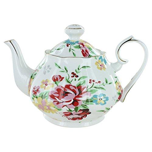 Shabby Rose Cream Porcelain - 5 Cup Teapot